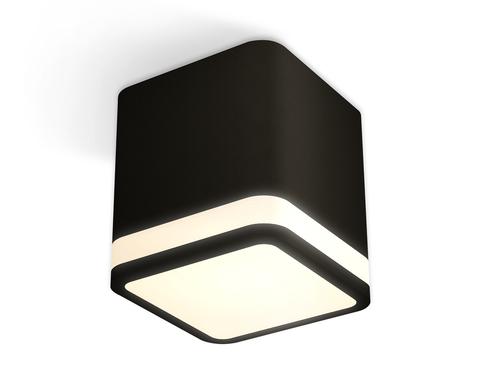 Комплект накладного светильника с акрилом XS7806030 SBK/FR черный песок/белый матовый MR16 GU5.3 (C7806, N7751)