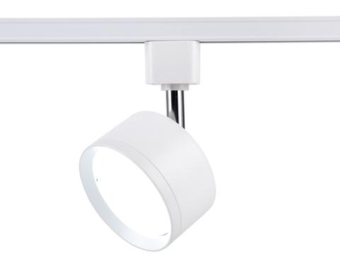 Трековый однофазный светильник со сменной лампой GL5356 WH белый GX53 max 12W
