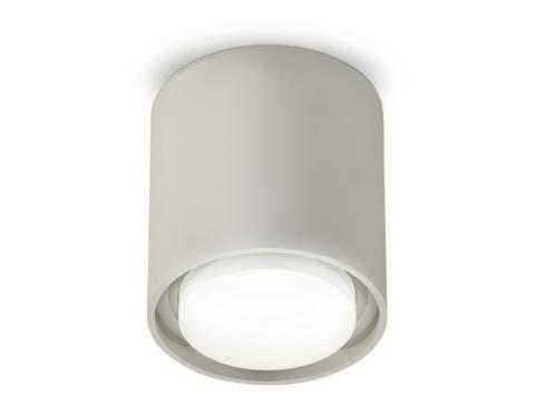 Комплект накладного светильника с акрилом XS7724016 SGR/FR/CL серый песок/белый матовый/прозрачный MR16 GU5.3 (C7724, N7160)