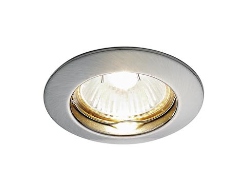 Встраиваемый точечный светильник 863A SN сатин никель MR16