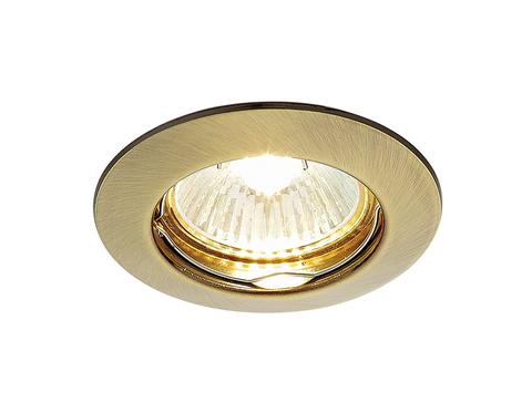 Встраиваемый точечный светильник 863A SB бронза MR16