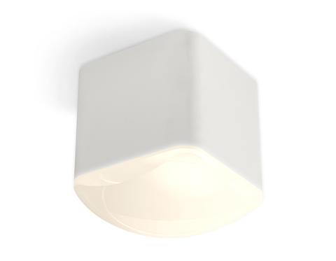 Комплект накладного светильника с акрилом XS7805041 SWH/FR белый песок/белый матовый MR16 GU5.3 (C7805, N7756)