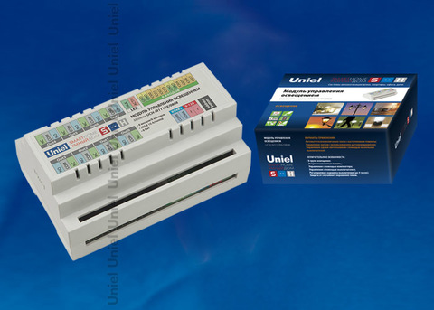 UCH-M111RX/0808 Модуль управления освещением, RS485 порт, 8 входов/ 8 выходов