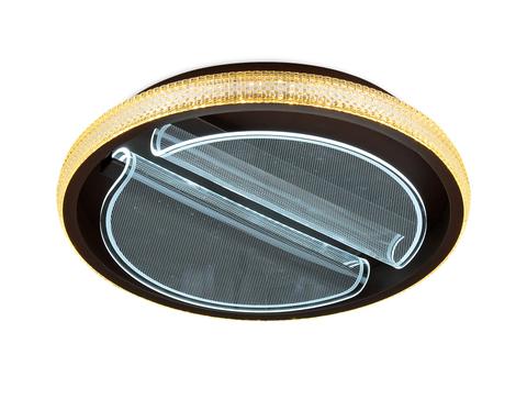 Потолочный светодиодный светильник с пультом FA604 CF кофе 88W D470*90 (ПДУ РАДИО 2.4)