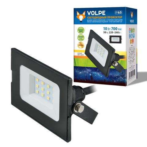 ULF-Q513 10W/BLUE IP65 220-240В BLACK Прожектор светодиодный. Синий свет. Корпус черный. TM Volpe.