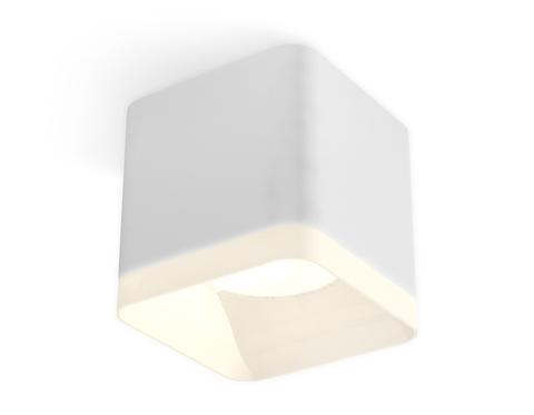Комплект накладного светильника с акрилом XS7805040 SWH/FR белый песок/белый матовый MR16 GU5.3 (C7805, N7755)