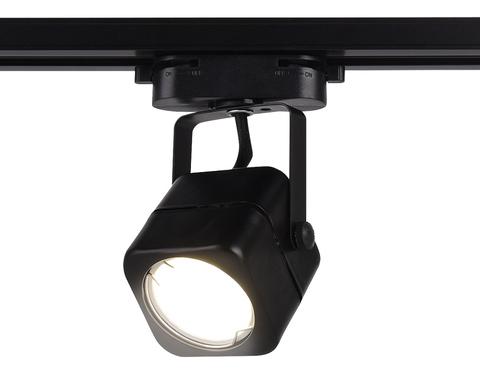 Трековый однофазный светильник со сменной лампой GL5108 BK черный GU10 max 12W
