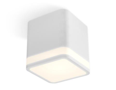 Комплект накладного светильника с акрилом XS7805030 SWH/FR белый песок/белый матовый MR16 GU5.3 (C7805, N7750)