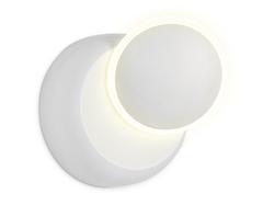 Настенный светодиодный светильник FW115 WH/S белый/песок LED 3000K 5W D140*65
