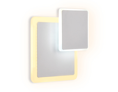 Настенный светодиодный светильник FW106 WH/S белый/песок LED 3000K/6400K 18W 240*220*50
