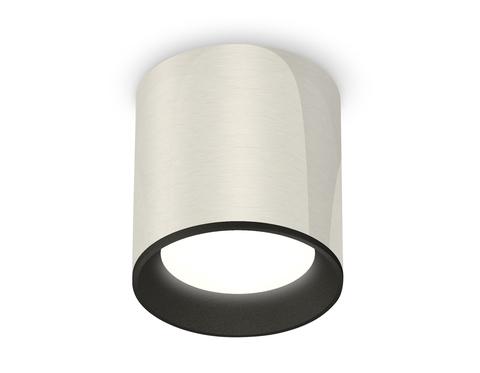 Комплект накладного светильника XS6305002 PSL/SBK серебро полированное/черный песок MR16 GU5.3 (C6305, N6102)