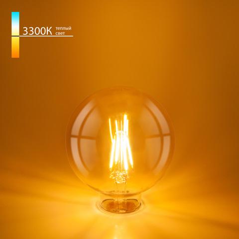 Филаментная светодиодная лампа G95 6W 3300K E27 BLE2704