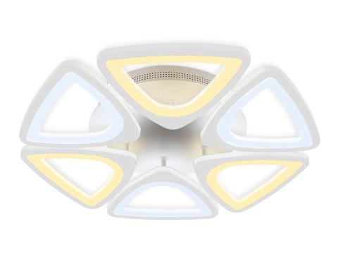 Потолочный светодиодный светильник с пультом FA4494/6 WH белый 4200K/3000K+6400K/6400K+3000K 84W D450*80 (ПДУ ИК)