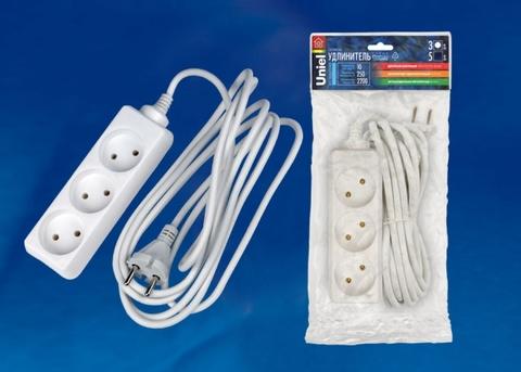S-CD3-3 Удлинитель Uniel серии Стандарт, б/з, 3 гн., шнур 3 м