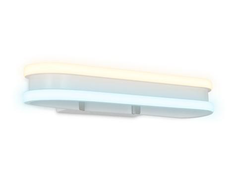 Настенный светодиодный светильник FL161 WH белый LED 3000K/6400K 26W 400*60*130