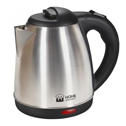 Чайник металлический HOME ELEMENT HE-KT166 черный/сталь