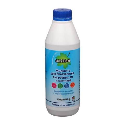 Жидкость Девон-Н для биотуалетов, выгребных ям и септиков, 0,5л.