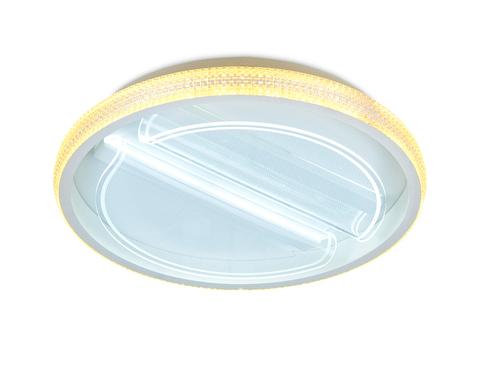 Потолочный светодиодный светильник с пультом FA602 WH белый 88W D470*90 (ПДУ РАДИО 2.4)
