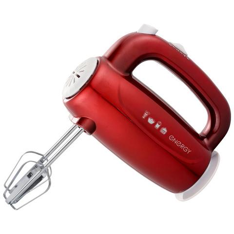 Миксер ENERGY EN-295R, 5 скоростей, 300 Вт, красный