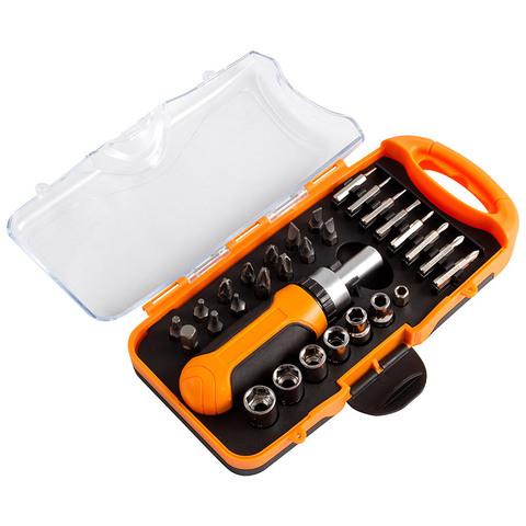 Набор инструментов, 31 предмет (головки, биты, отвертка)