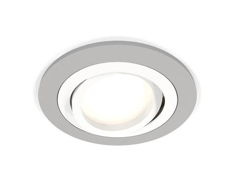 Комплект встраиваемого поворотного светильника XC7623080 SGR/SWH серый песок/белый песок MR16 GU5.3 (C7623, N7001)