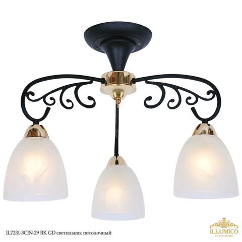 IL7231-3CIN-29 BK GD светильник потолочный