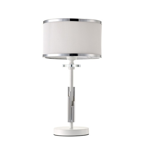 Настольный светильник Escada 10156/T E27*60W Matt white/Chrome