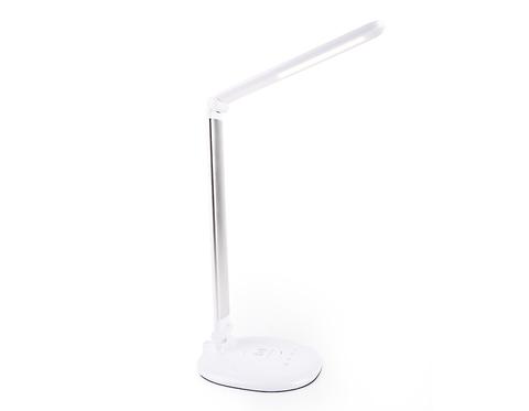 Светодиодная настольная лампа с беспроводной зарядкой DE524 SL серебро LED 3000-6400K 7W