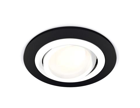 Комплект встраиваемого поворотного светильника XC7622080 SBK/SWH черный песок/белый песок MR16 GU5.3 (C7622, N7001)