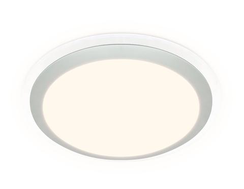 Потолочный светодиодный светильник с пультом FF49 WH белый 48W 3000K/4200K/6400K D400*75 (ПДУ ИК)