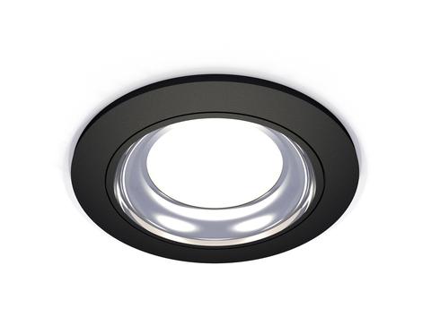 Комплект встраиваемого светильника XC7622061 SBK/PSL черный песок/серебро полированное MR16 GU5.3 (C7622, N7023)