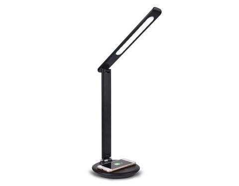 Светодиодная настольная лампа с беспроводной зарядкой DE521 BK черный LED 3000-6400K 8W
