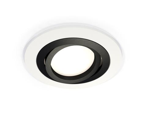 Комплект встраиваемого поворотного светильника XC7621081 SWH/PBK белый песок/черный полированный MR16 GU5.3 (C7621, N7002)