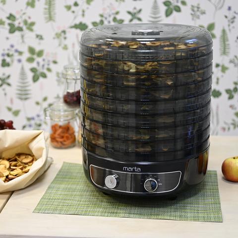 Сушилка для фруктов, овощей MARTA MFD-8018PS черный жемчуг