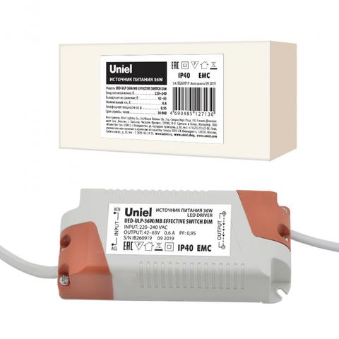 UED-ULP-36W/MB EFFECTIVE SWITCH DIM Блок питания диммируемый для светодиодных панелей ULP-36W Effective. TM Uniel.