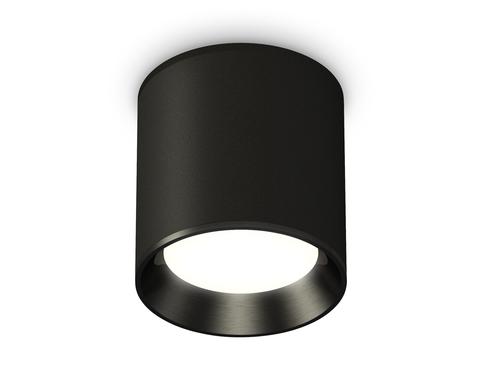 Комплект накладного светильника XS6302002 SBK/PBK черный песок/черный полированный MR16 GU5.3 (C6302, N6103)