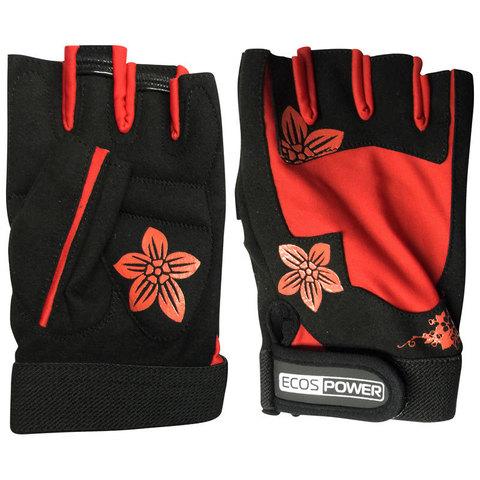 Перчатки для фитнеса 5106-RM, цвет: черный+красный, размер: М