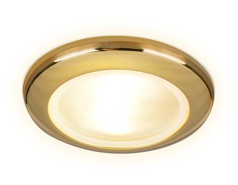 Встраиваемый влагозащищенный точечный светильник MR16 TN110 GD золото GU5.3 D92*35