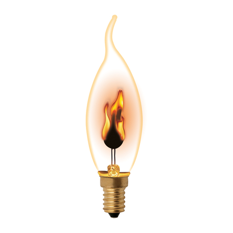 IL-N-CW35-3/RED-FLAME/E14/CL Лампа декоративная с типом свечения