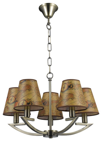 Подвесной светильник Escada Pirates 1021/5 E14*60W Bronze