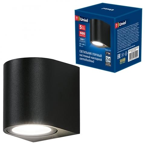 ULU-S04A-5W/4000K IP54 BLACK Светильник светодиодный уличный. Архитектурный накладной. Белый свет (4000K). Корпус черный. TM Uniel.