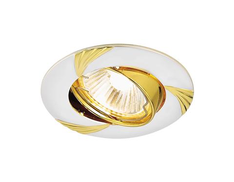 Встраиваемый точечный светильник 633 PS/G перламутровое серебро/золото MR16