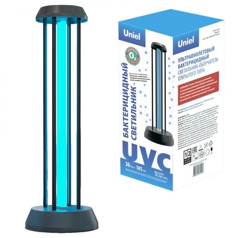 UGL-T01A-36W/UVCO BLACK Светильник ультрафиолетовый бактерицидный настольный. С озонированием, 185 нм. Корпус черный. ТМ Uniel
