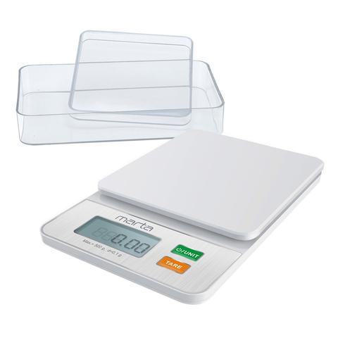 Весы кухонные MARTA MT-1642 высокоточные 0,1 г белый жемчуг