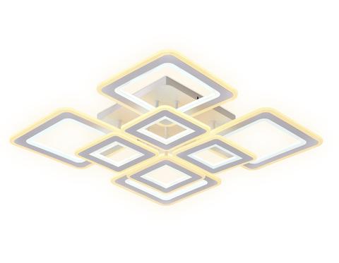 Потолочный светодиодный светильник с пультом FA868/4+4 WH белый 276W 3000K-6400K 820*820*120 (ПДУ РАДИО 2.4G)