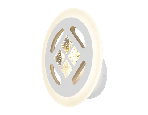 Настенный светодиодный светильник FA2955 WH белый 4200K/3000K/6400K 20W 200*200*70