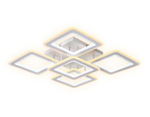 Потолочный светодиодный светильник с пультом FA866/4+1 WH белый 218W 3000K-6400K 820*820*120 (ПДУ РАДИО 2.4G)
