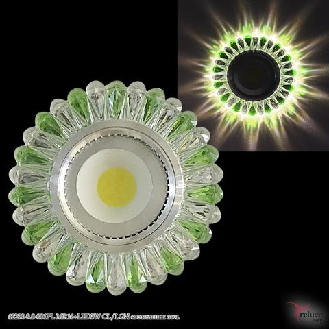 42230-9.0-001PL MR16+LED3W CL/LGN светильник точ.