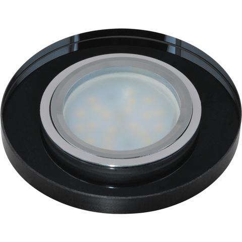 DLS-P106 GU5.3 CHROME/BLACK Светильник декоративный встраиваемый ТМ
