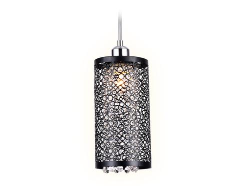 Подвесной светильник со сменной лампой TR3637 CH/BK хром/черный E14 max 40W D130*1100
